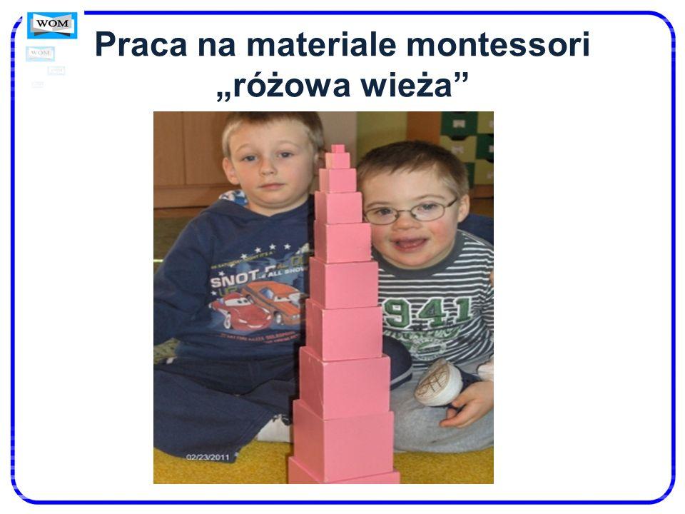 """Praca na materiale montessori """"różowa wieża"""