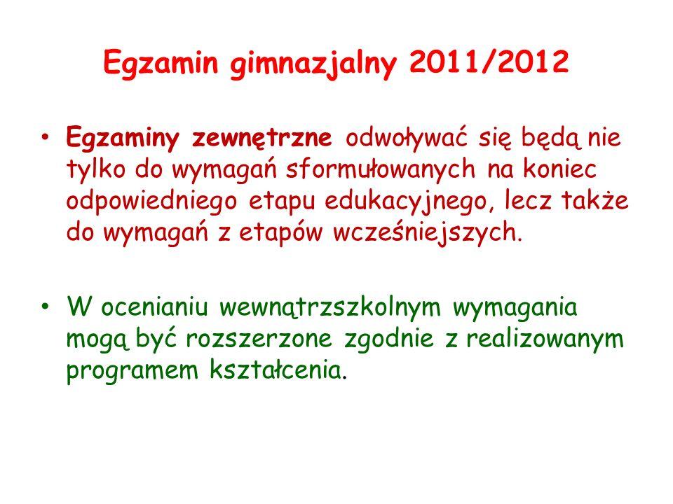 Egzamin gimnazjalny 2011/2012