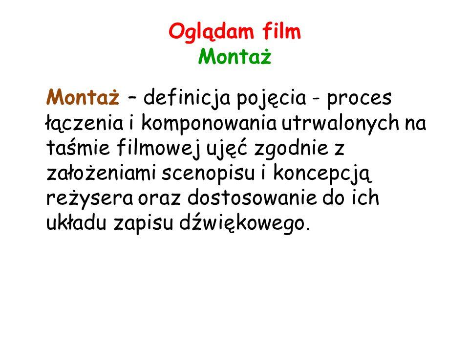 Oglądam film Montaż