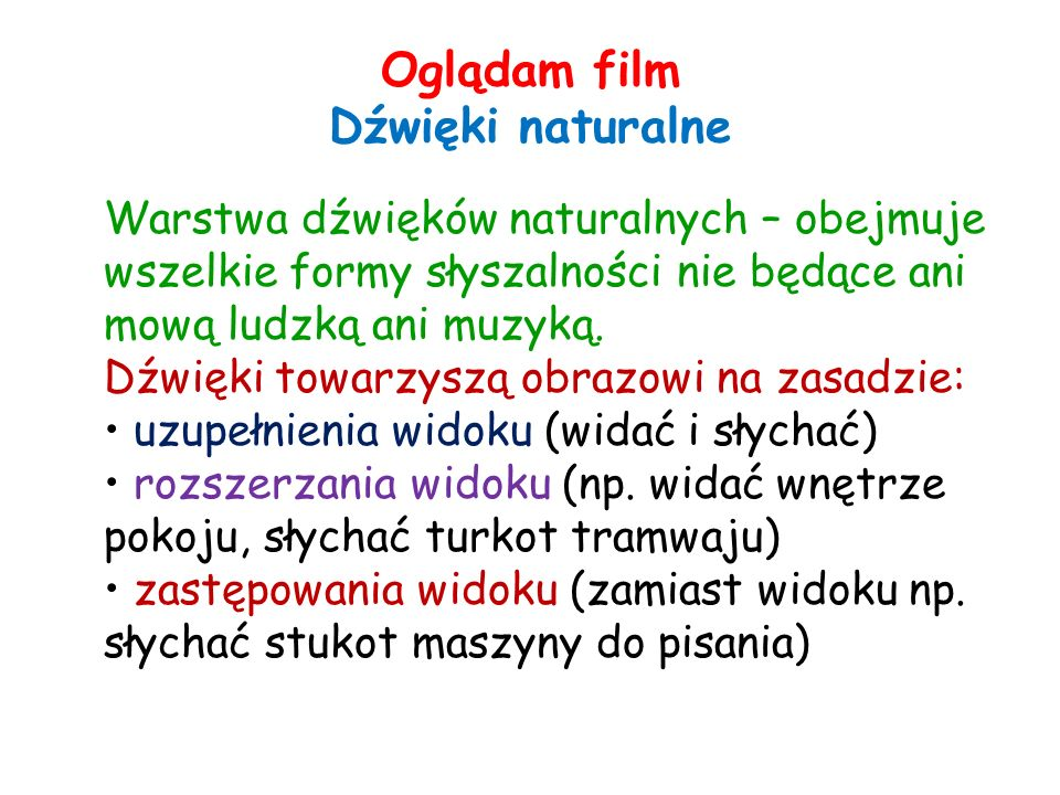 Oglądam film Dźwięki naturalne