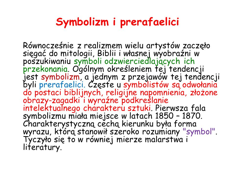 Symbolizm i prerafaelici