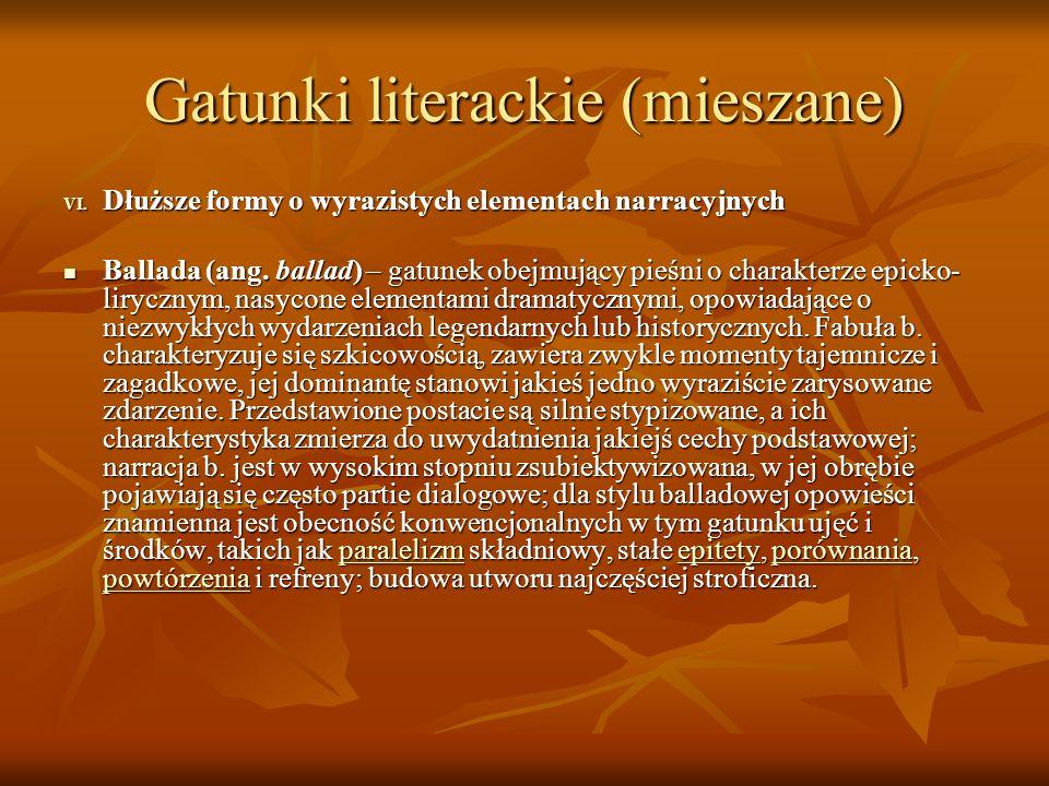 Gatunki literackie (mieszane)