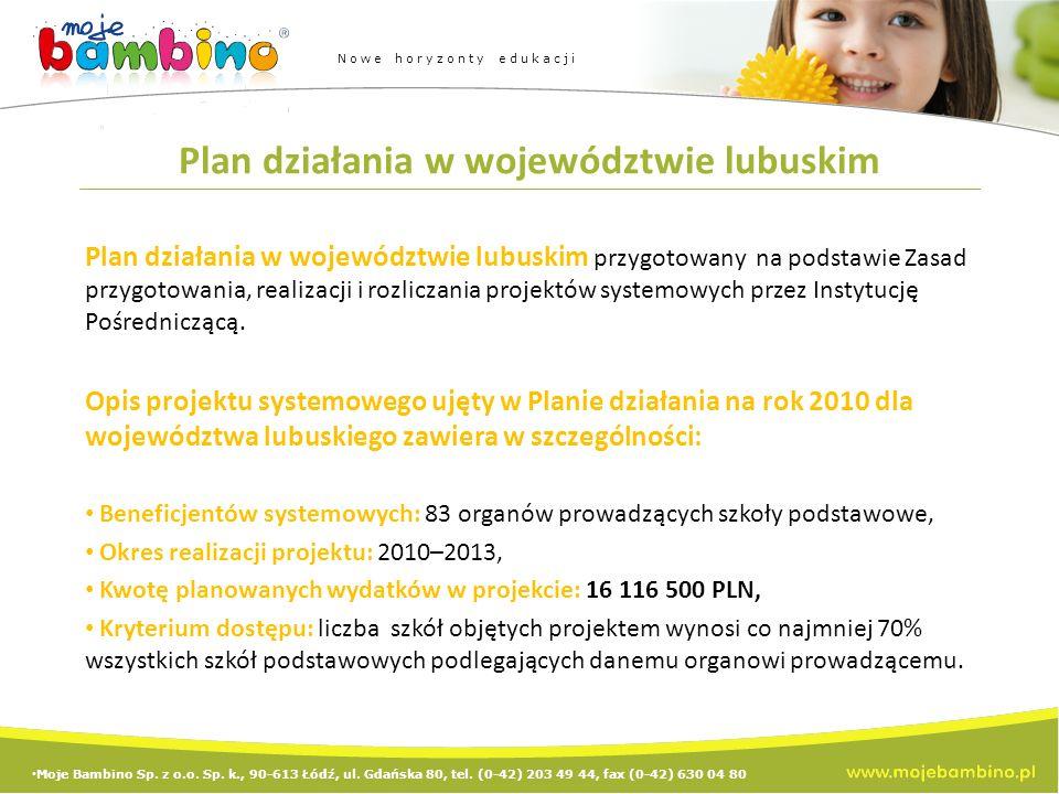 Plan działania w województwie lubuskim