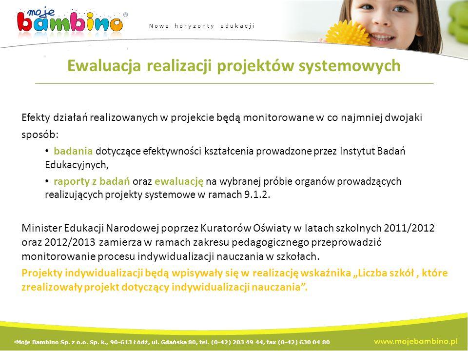 Ewaluacja realizacji projektów systemowych