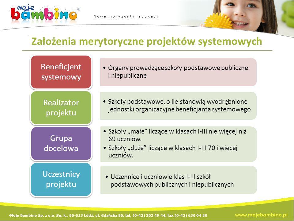 Założenia merytoryczne projektów systemowych