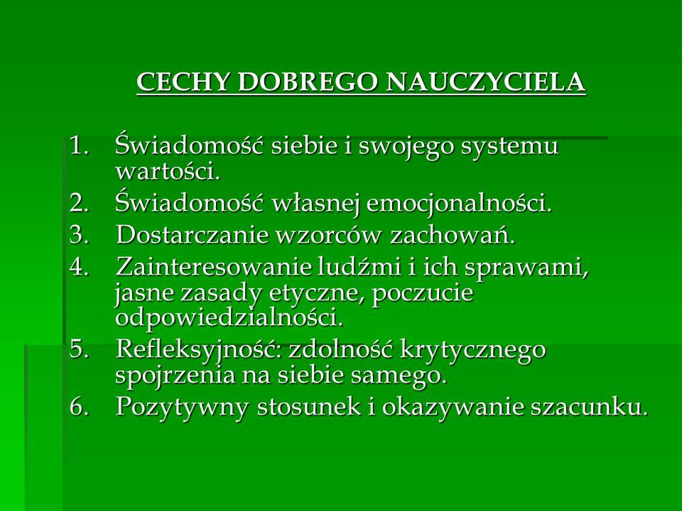 CECHY DOBREGO NAUCZYCIELA