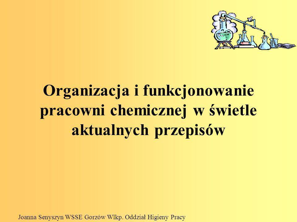 Organizacja i funkcjonowanie pracowni chemicznej w świetle aktualnych przepisów