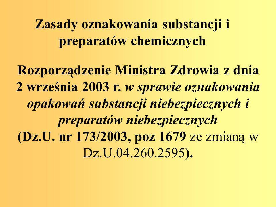 Zasady oznakowania substancji i preparatów chemicznych