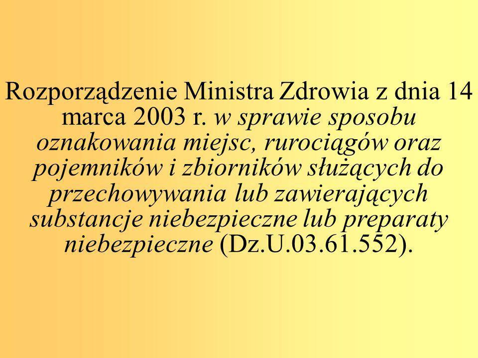 Rozporządzenie Ministra Zdrowia z dnia 14 marca 2003 r