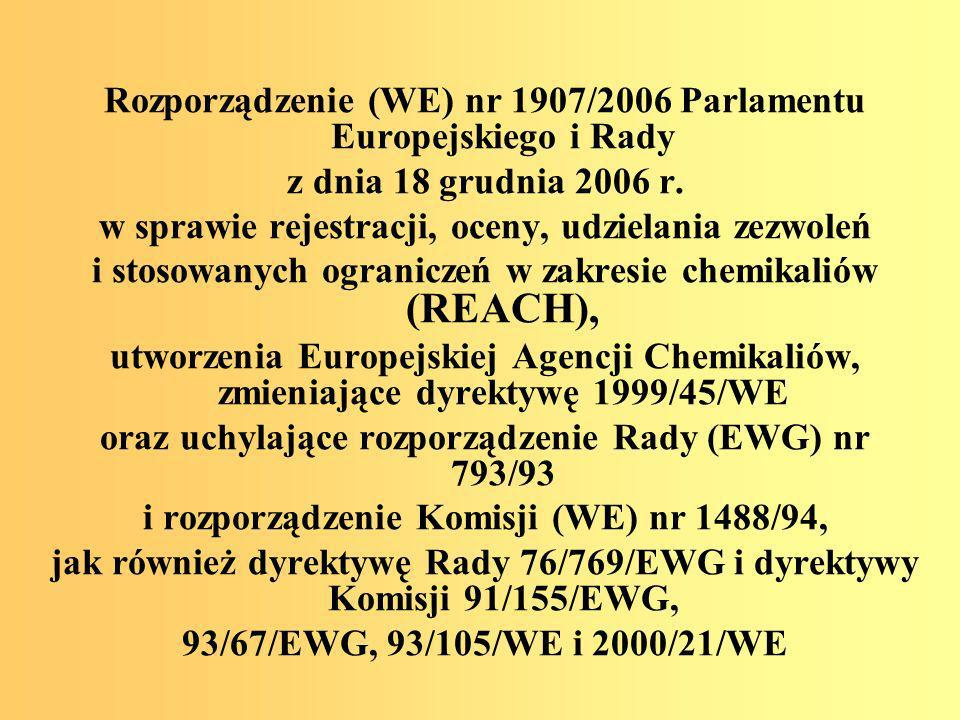 Rozporządzenie (WE) nr 1907/2006 Parlamentu Europejskiego i Rady