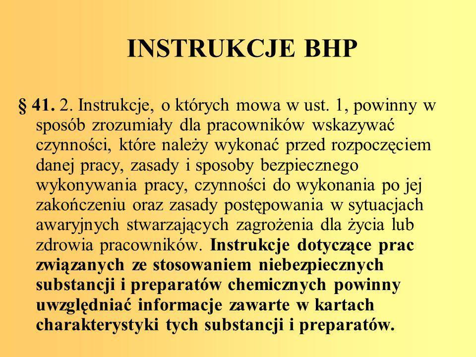 INSTRUKCJE BHP
