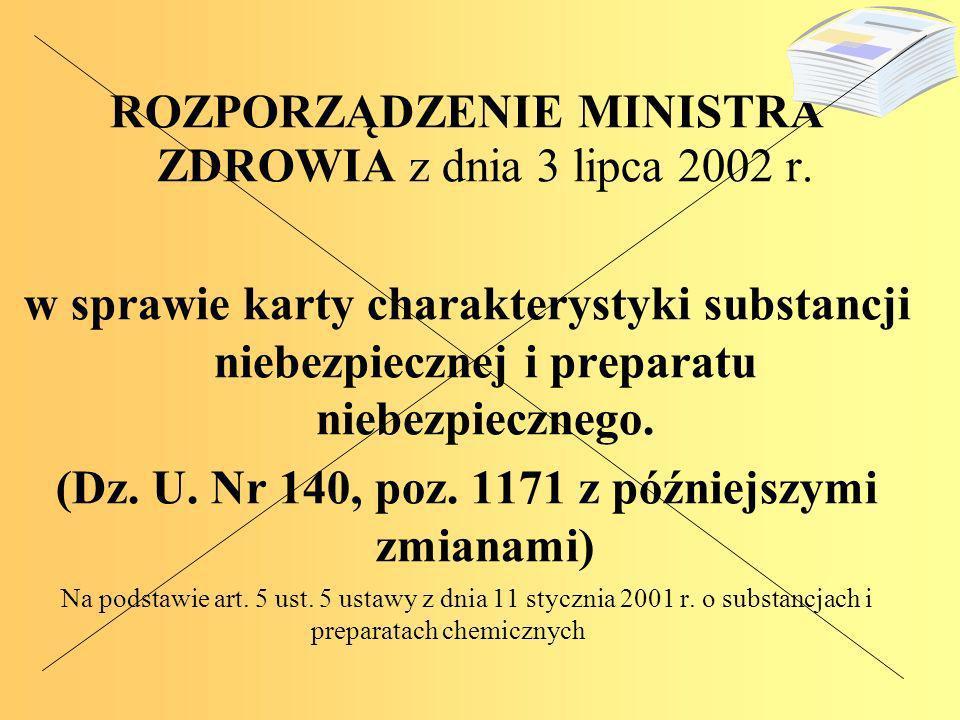 ROZPORZĄDZENIE MINISTRA ZDROWIA z dnia 3 lipca 2002 r.