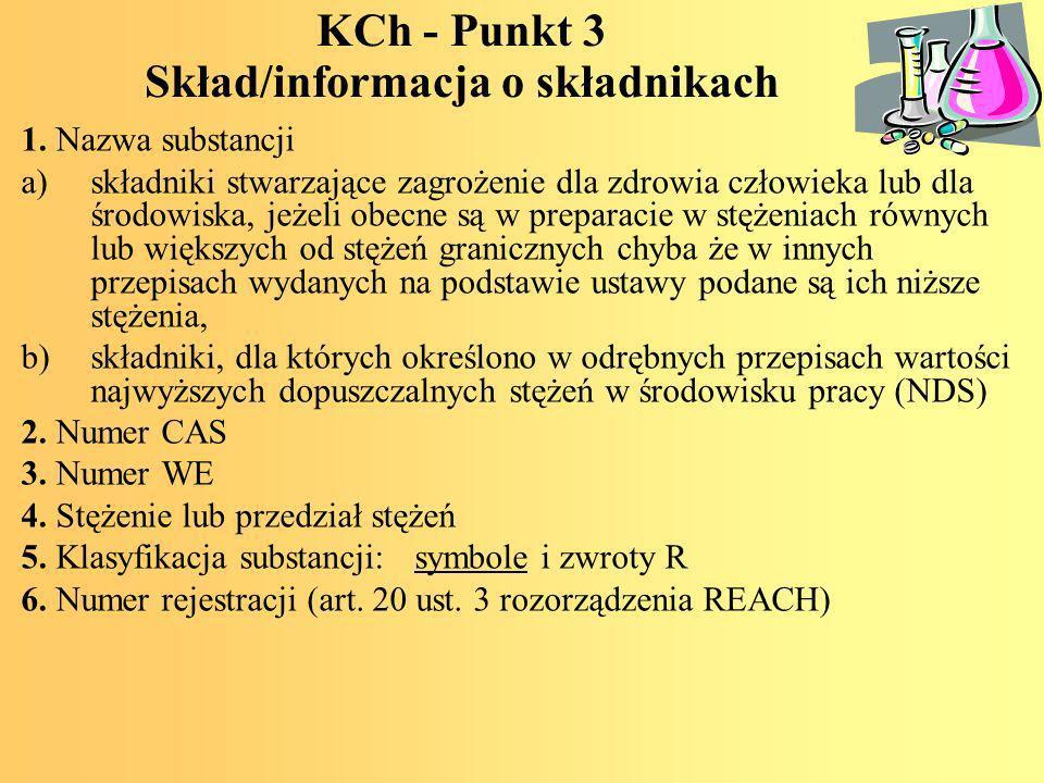 KCh - Punkt 3 Skład/informacja o składnikach