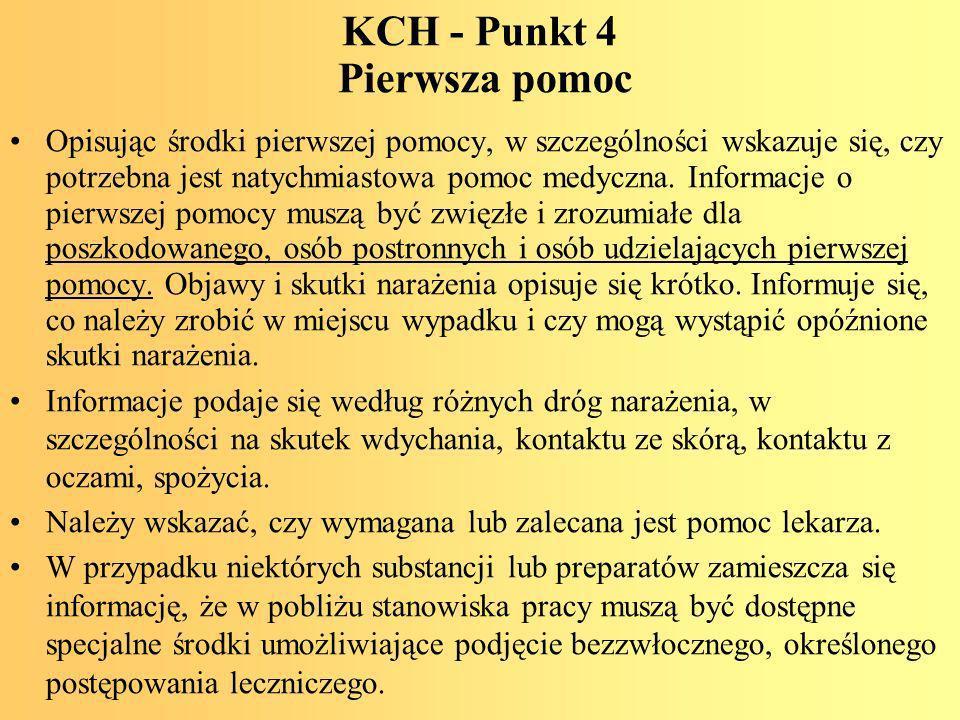 KCH - Punkt 4 Pierwsza pomoc