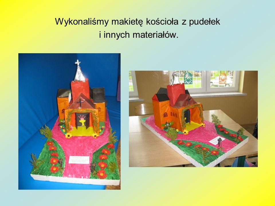 Wykonaliśmy makietę kościoła z pudełek