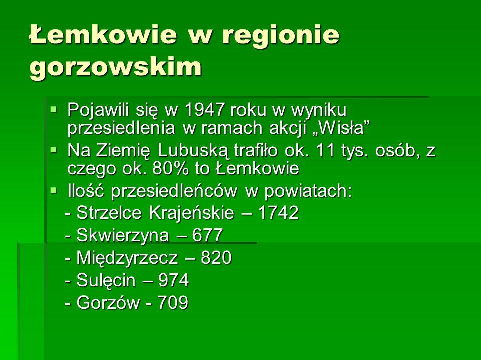 Łemkowie w regionie gorzowskim