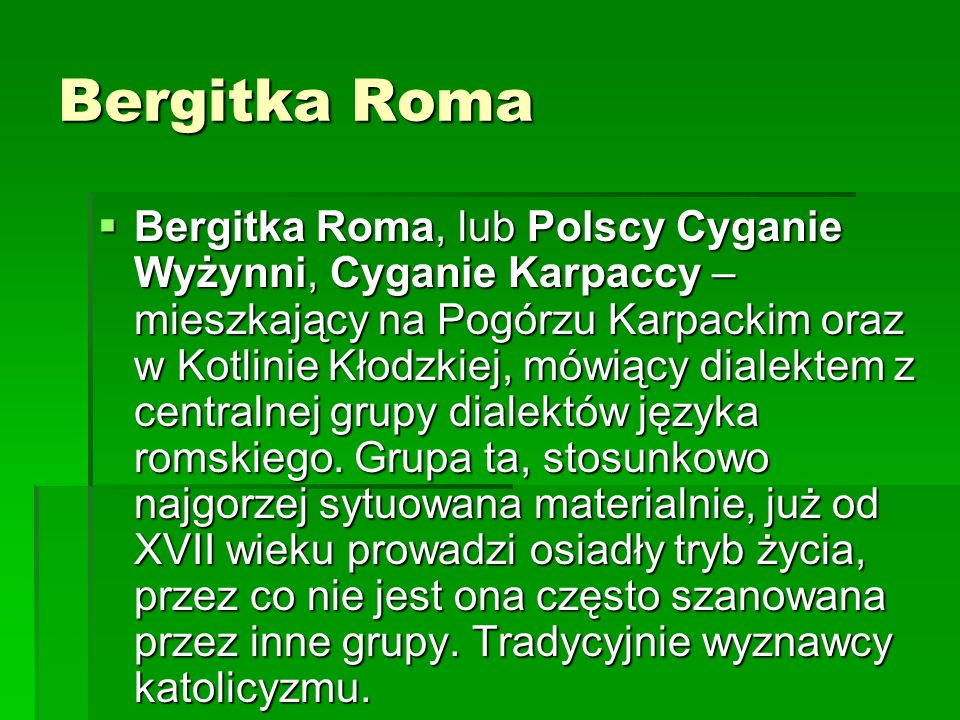 Bergitka Roma