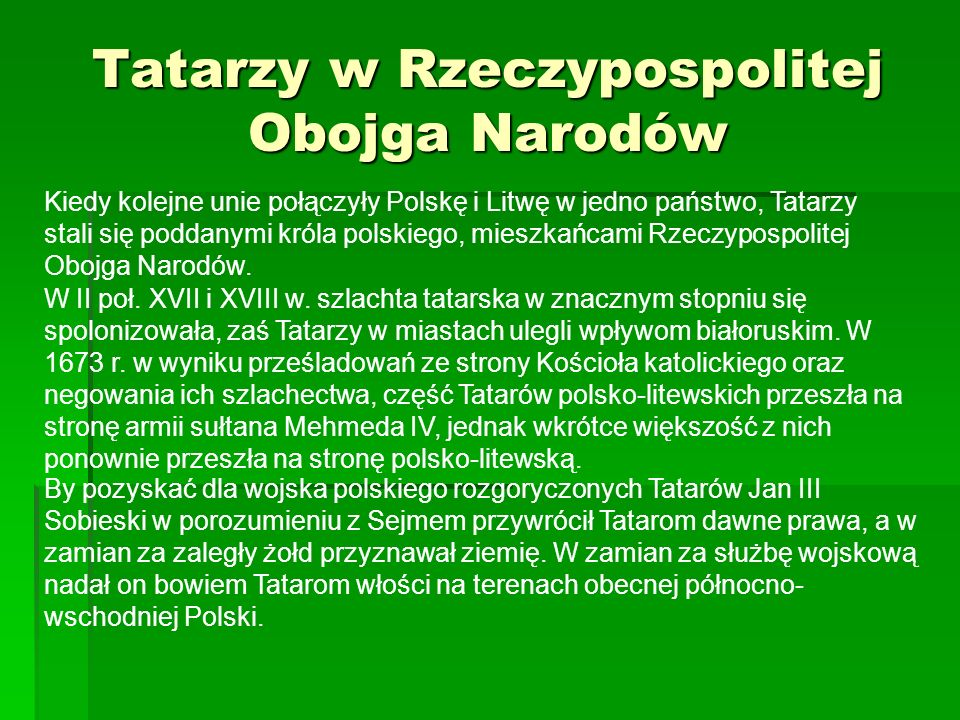 Tatarzy w Rzeczypospolitej Obojga Narodów