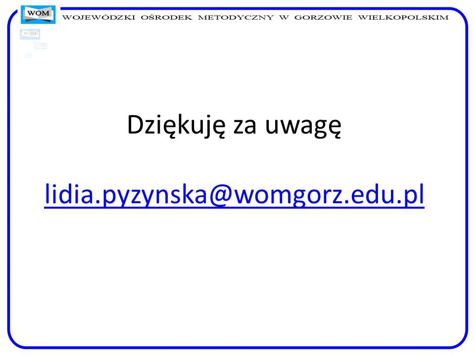 Dziękuję za uwagę lidia.pyzynska@womgorz.edu.pl