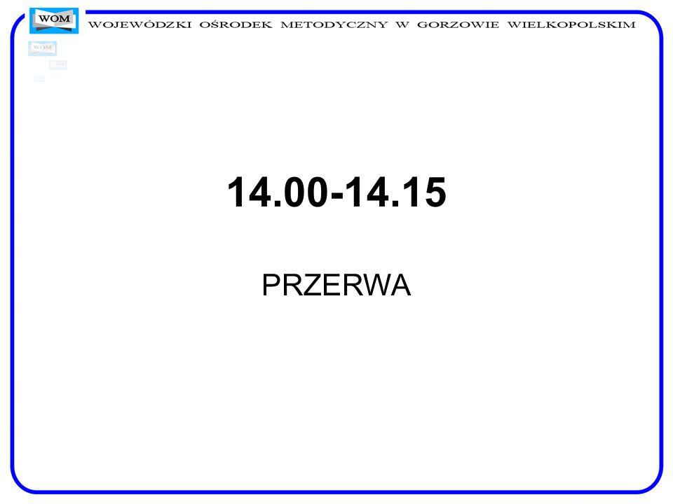 14.00-14.15 PRZERWA