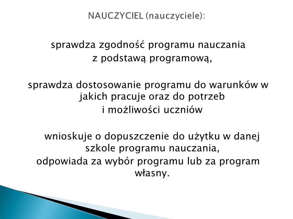 NAUCZYCIEL (nauczyciele):