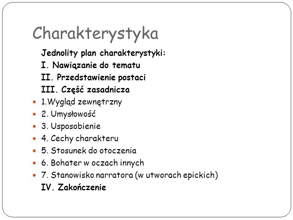 Charakterystyka Jednolity plan charakterystyki: