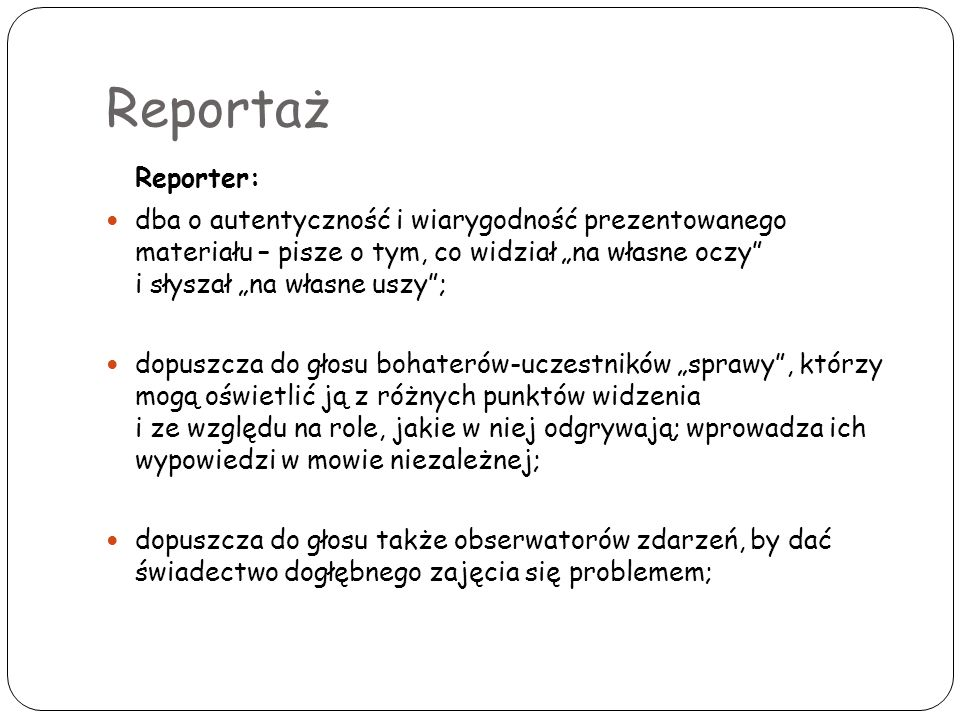 Reportaż Reporter: