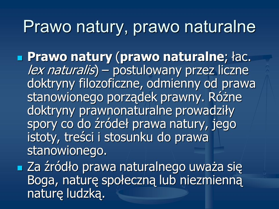 Prawo natury, prawo naturalne