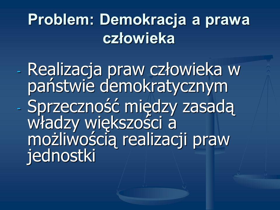 Problem: Demokracja a prawa człowieka