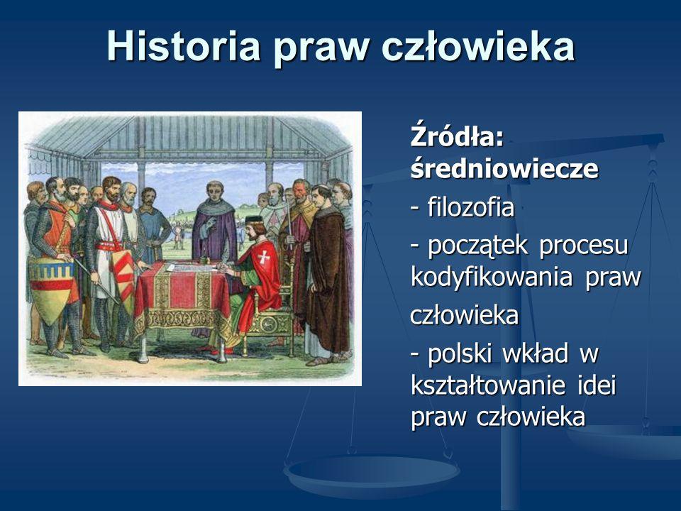 Historia praw człowieka