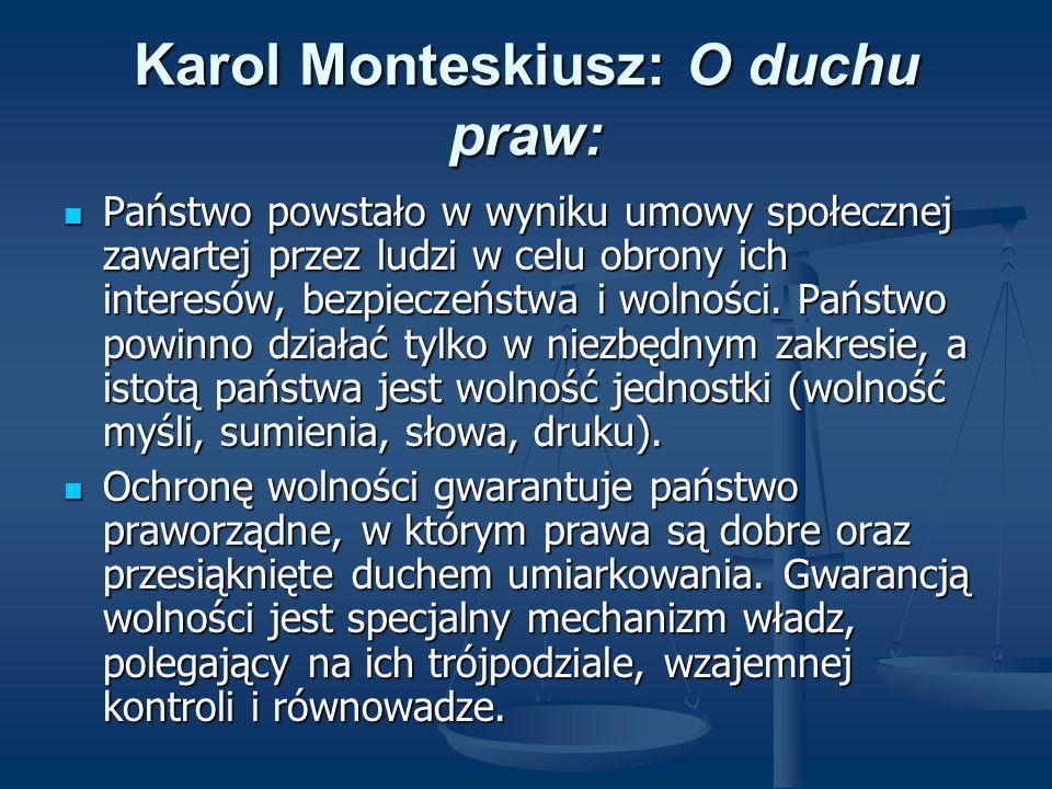 Karol Monteskiusz: O duchu praw: