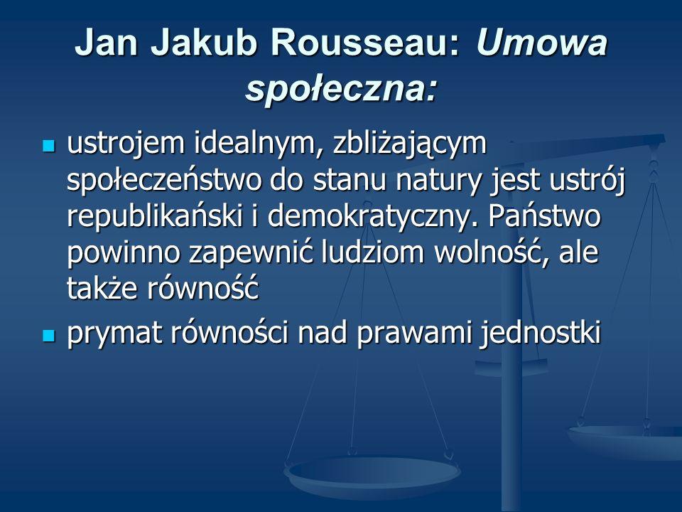 Jan Jakub Rousseau: Umowa społeczna: