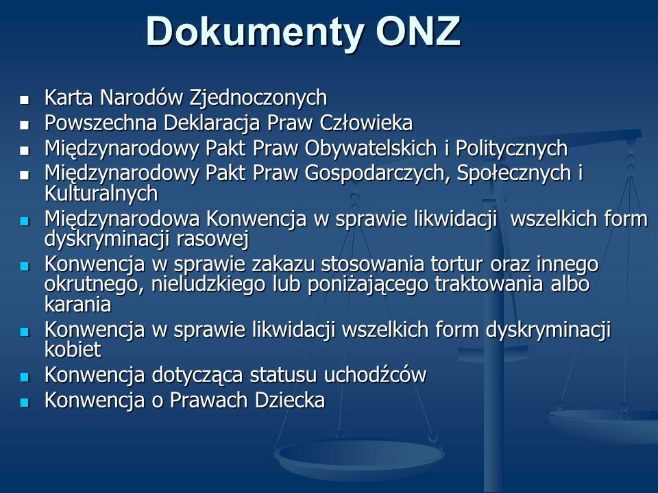 Dokumenty ONZ Karta Narodów Zjednoczonych