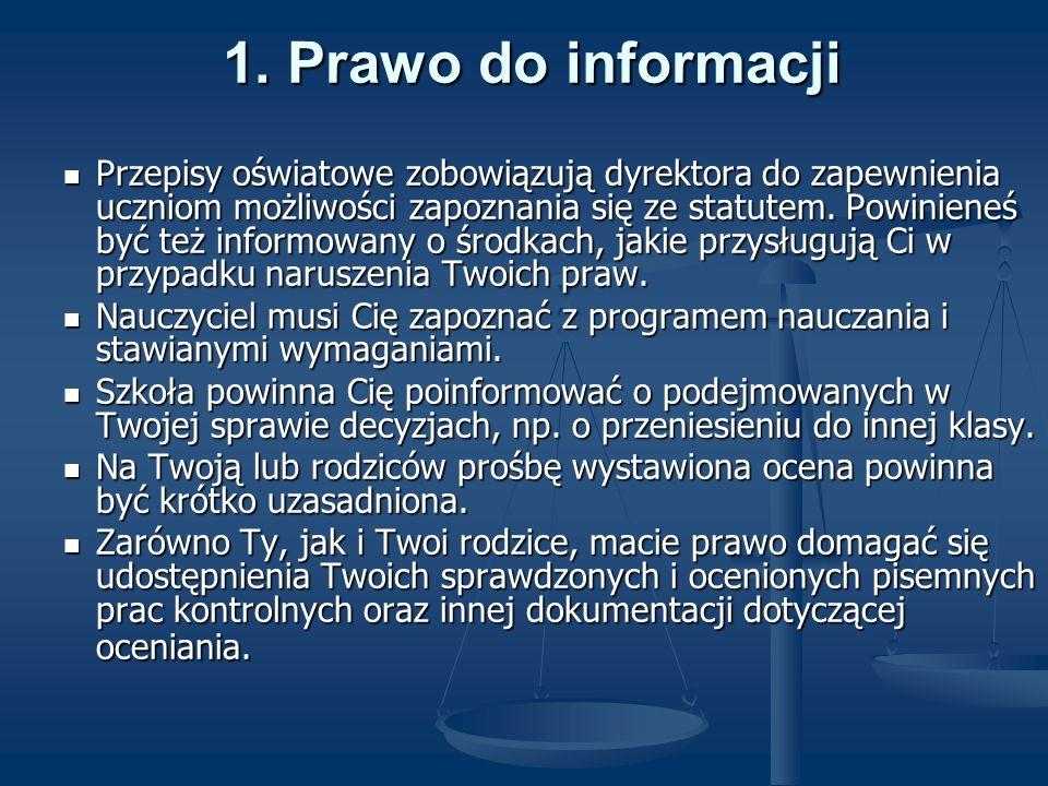 1. Prawo do informacji