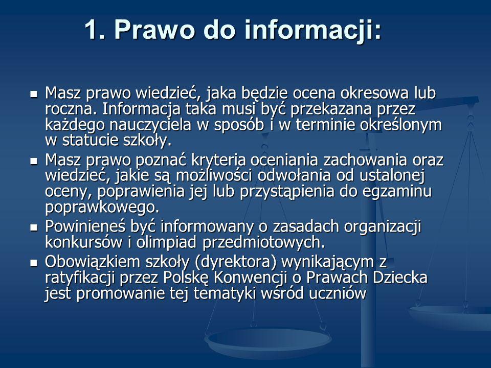 1. Prawo do informacji:
