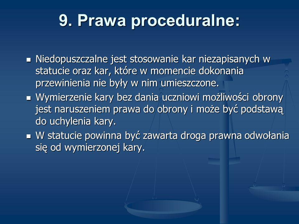9. Prawa proceduralne: