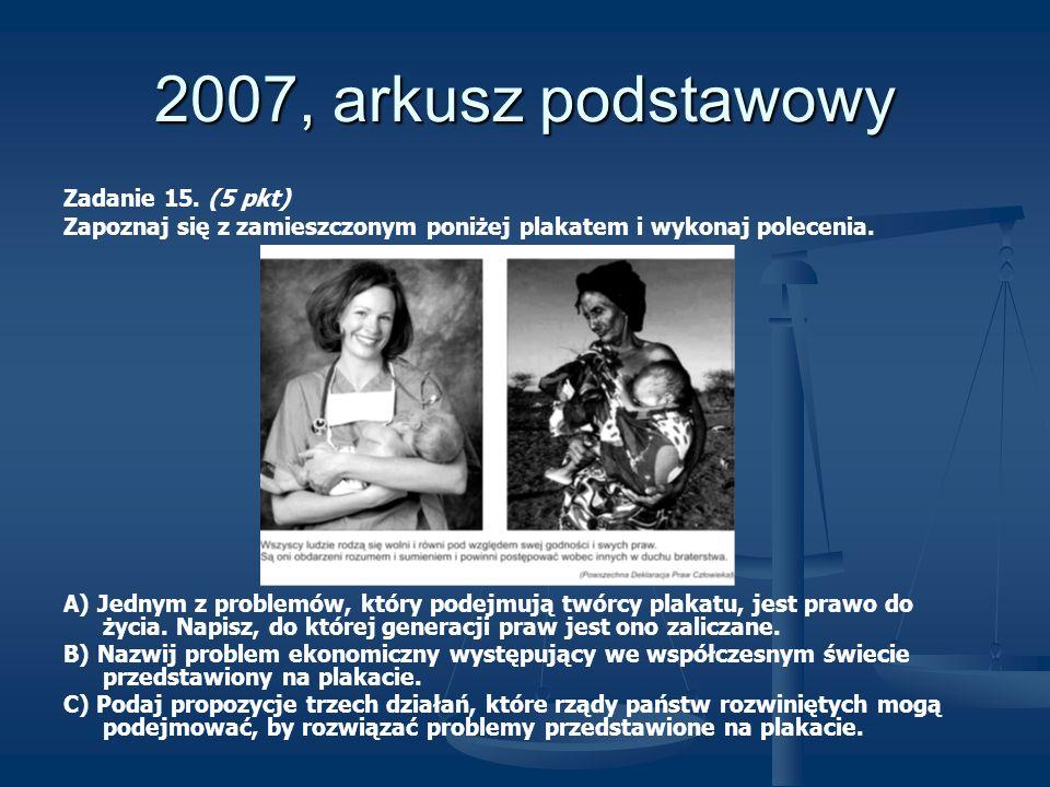 2007, arkusz podstawowy Zadanie 15. (5 pkt)