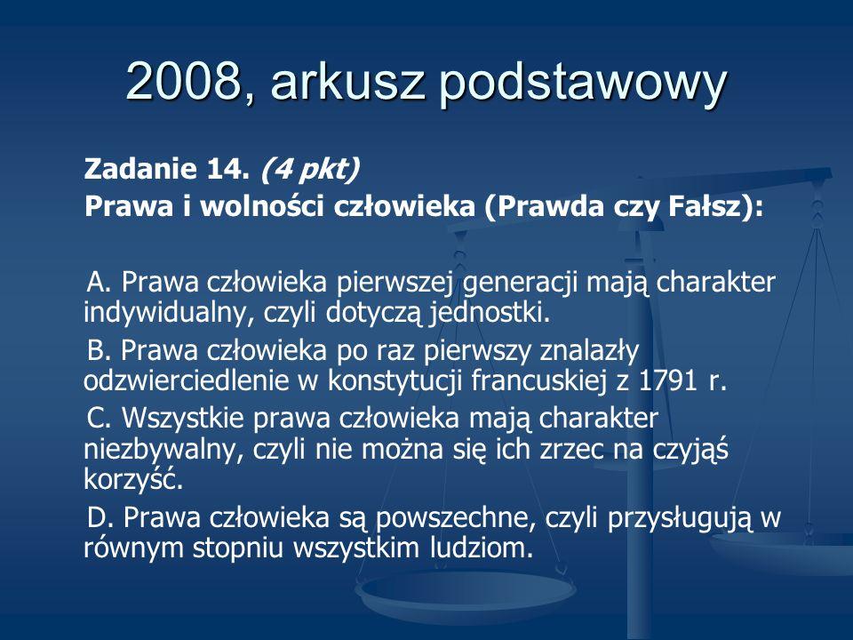 2008, arkusz podstawowy Zadanie 14. (4 pkt)