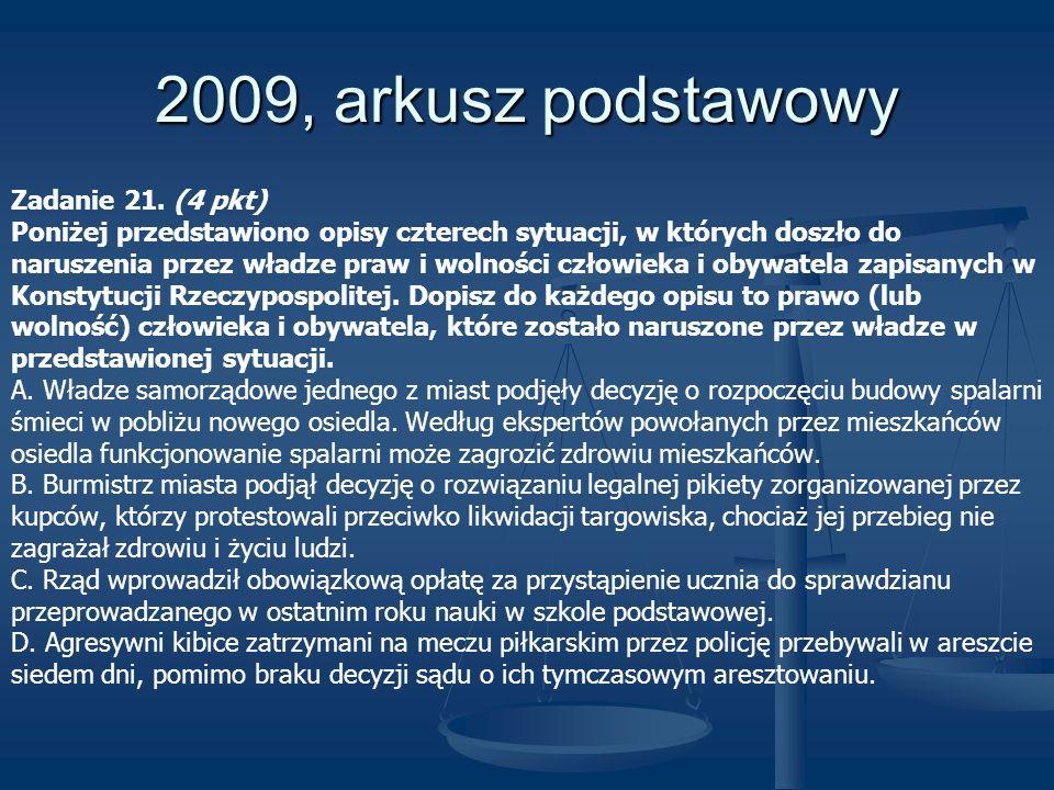 2009, arkusz podstawowy Zadanie 21. (4 pkt)
