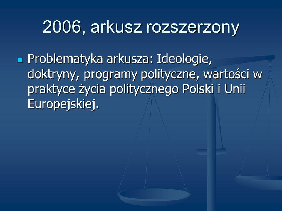 2006, arkusz rozszerzony