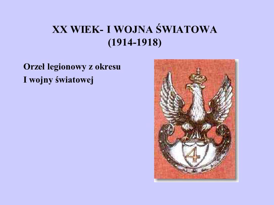 XX WIEK- I WOJNA ŚWIATOWA (1914-1918)