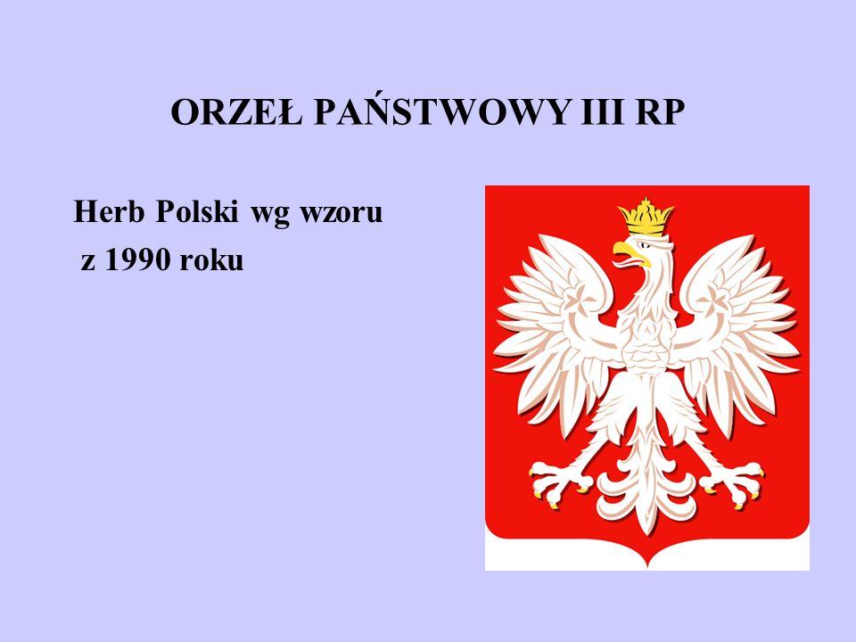 ORZEŁ PAŃSTWOWY III RP Herb Polski wg wzoru z 1990 roku