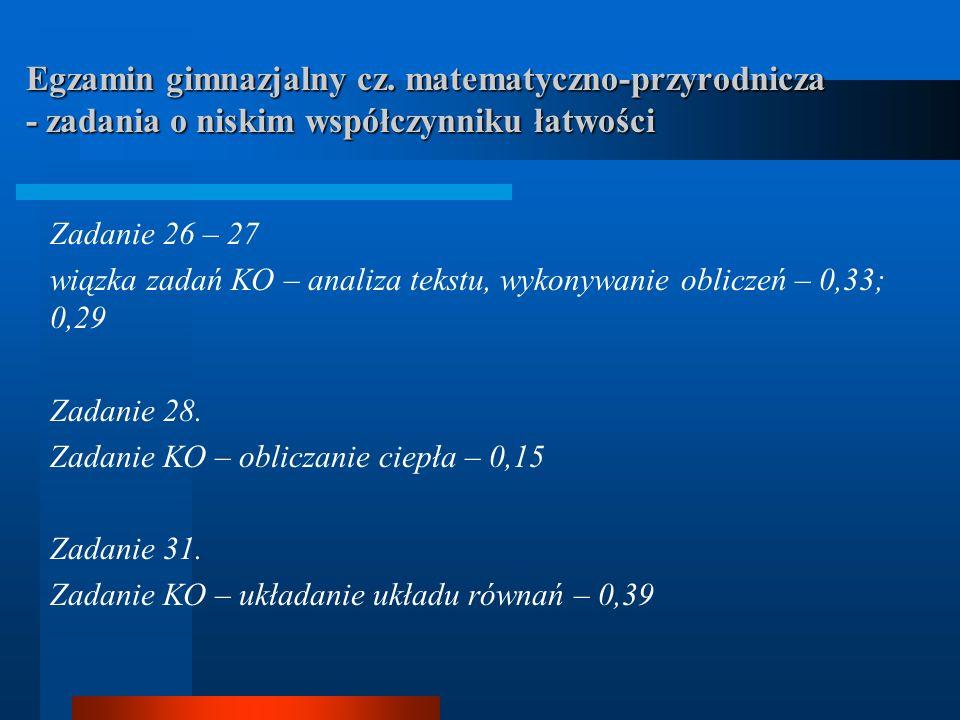 Egzamin gimnazjalny cz