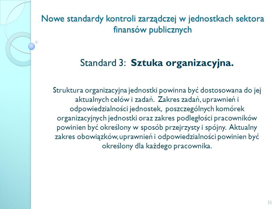 Standard 3: Sztuka organizacyjna.