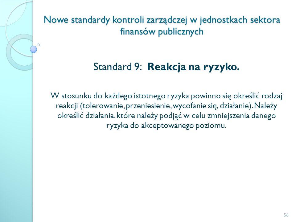 Standard 9: Reakcja na ryzyko.