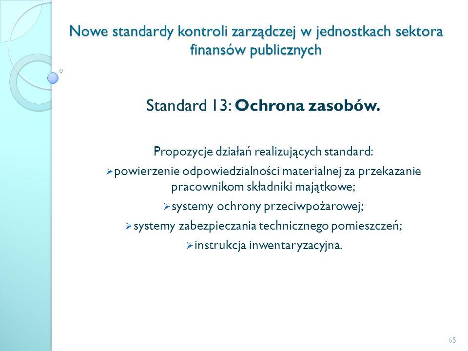 Standard 13: Ochrona zasobów.