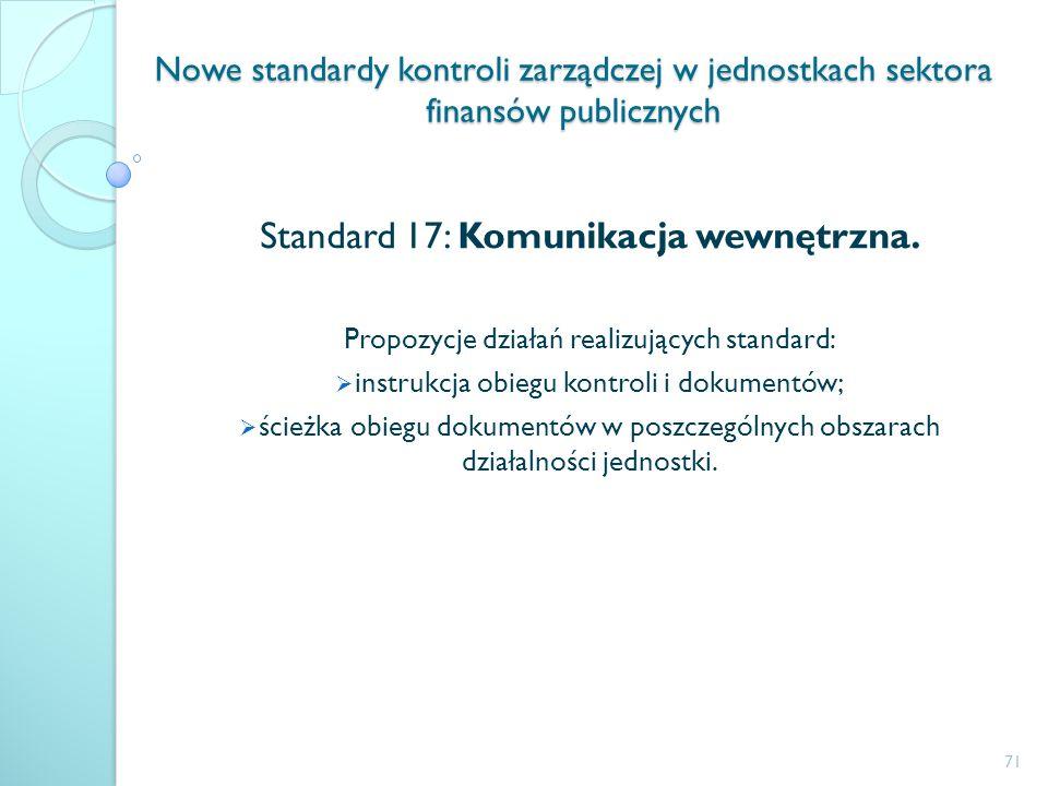 Standard 17: Komunikacja wewnętrzna.