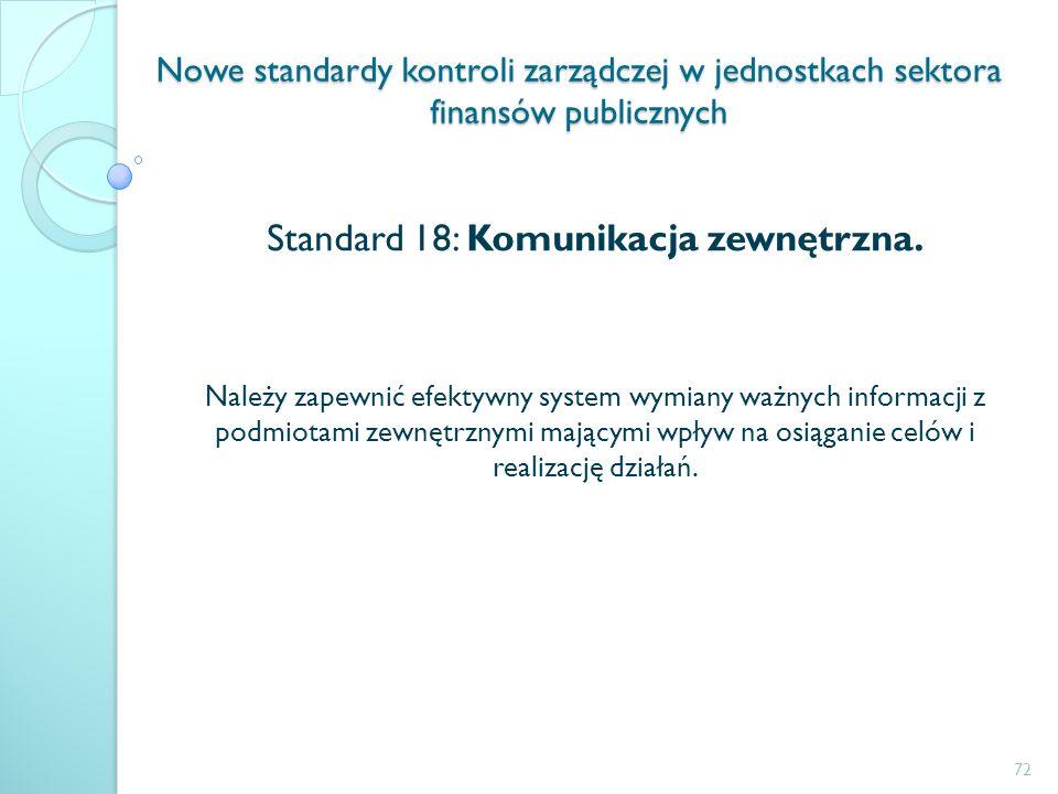 Standard 18: Komunikacja zewnętrzna.