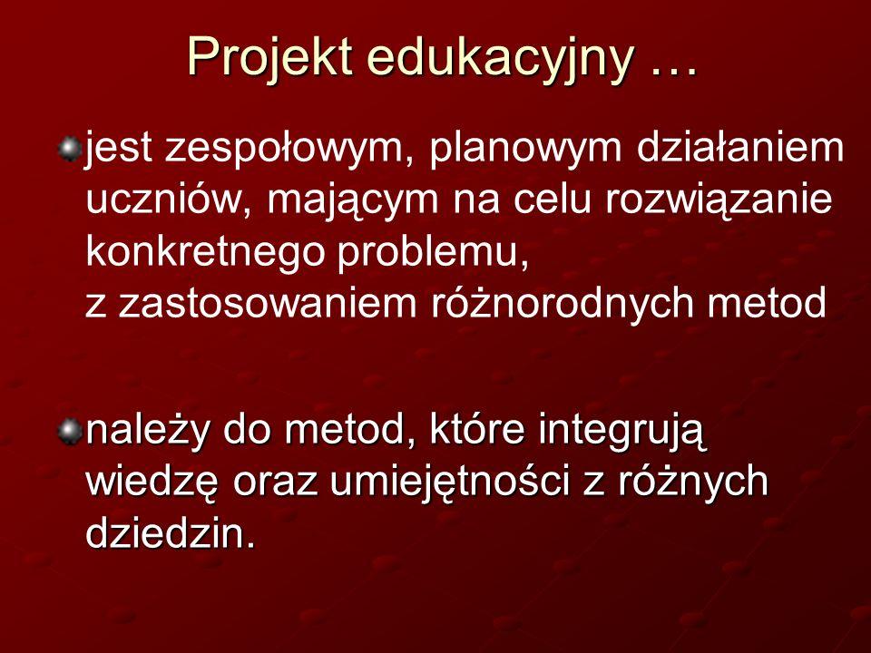 Projekt edukacyjny …