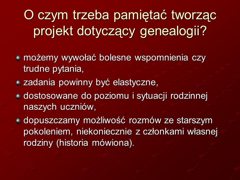 O czym trzeba pamiętać tworząc projekt dotyczący genealogii